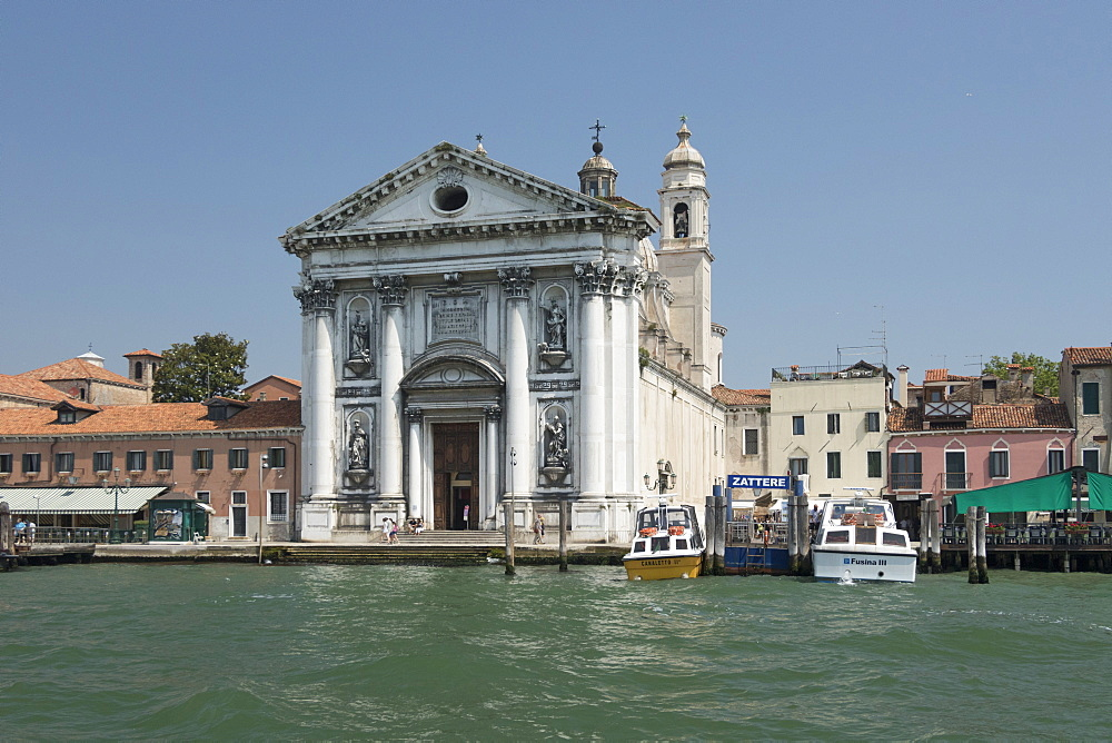 Church of Santa Maria di Visitazione from Giudecca Canal, Venice, UNESCO World Heritage Site, Veneto, Italy, Europe - 489-1721