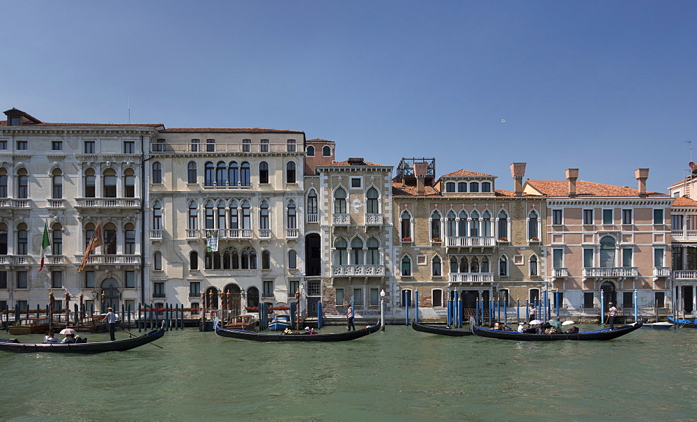 Houses on the Grand Canal, Venice, UNESCO World Heritage Site, Veneto, Italy, Europe - 489-1725