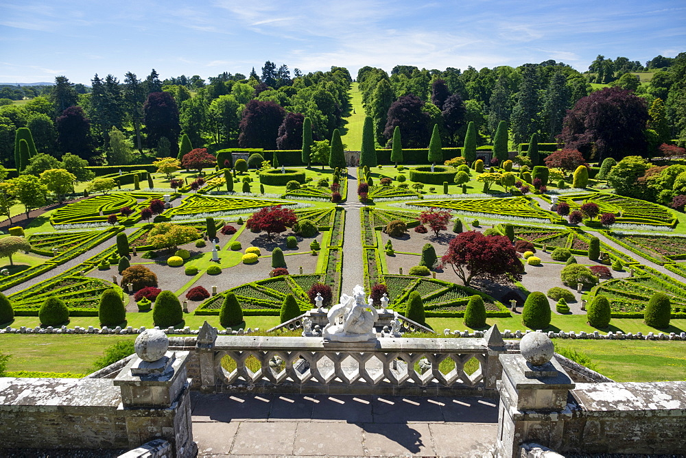 Drummond Castle Gardens, Perthshire, Scotland, UK
