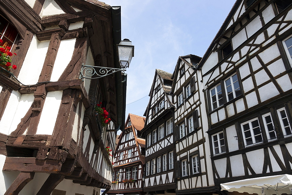 Medieval buildings, Petite France, UNESCO World Heritage Site, Strasbourg, Alsace, France, Europe - 489-1776