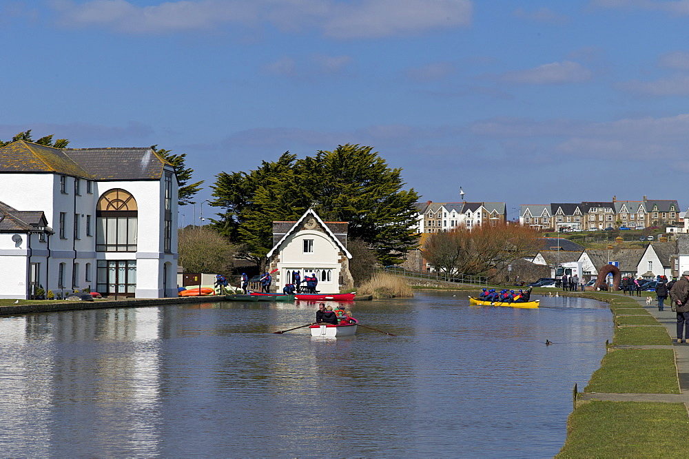 Bude Canal, North Cornwall, England, United Kingdom, Europe - 492-3522