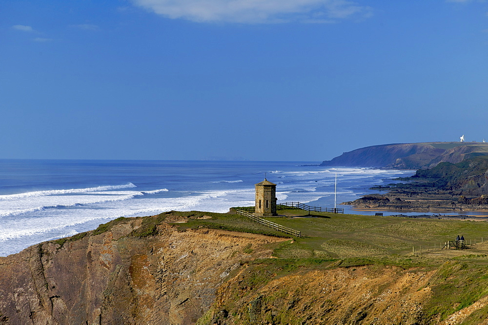 The Pepper Pot storm tower, Bude, North Cornwall, England, United Kingdom, Europe - 492-3523