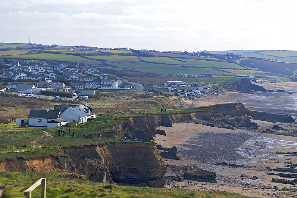 Widemouth Bay, North Cornwall, England, United Kingdom, Europe - 492-3524