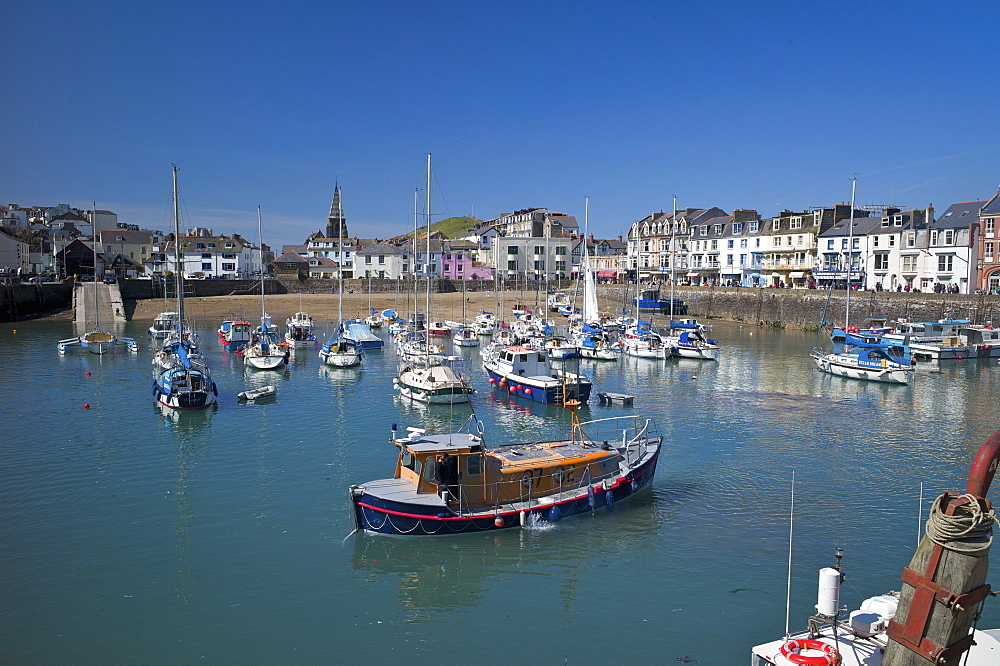 The Harbour, Ilfracombe, Devon, England, United Kingdom, Europe - 492-3529