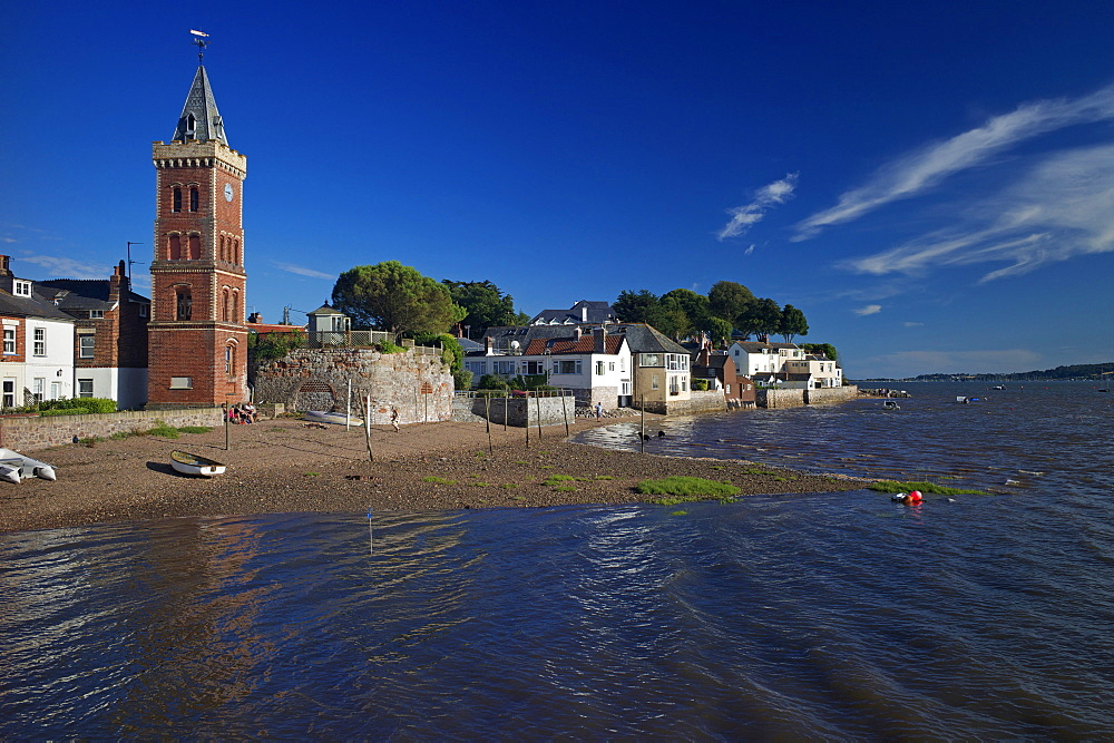 Peters Tower, the harbour, Lympstone, Exe Estuary, Devon, England, United Kingdom, Europe - 492-3531