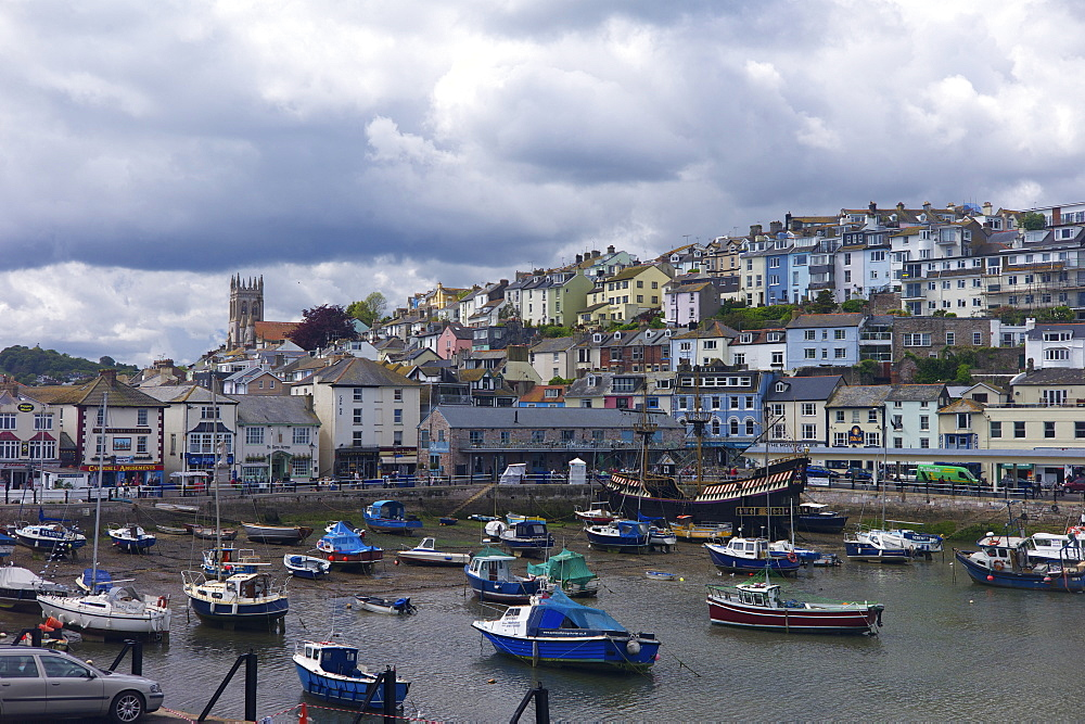 Brixham harbour, Devon, England, United Kingdom, Europe - 492-3548