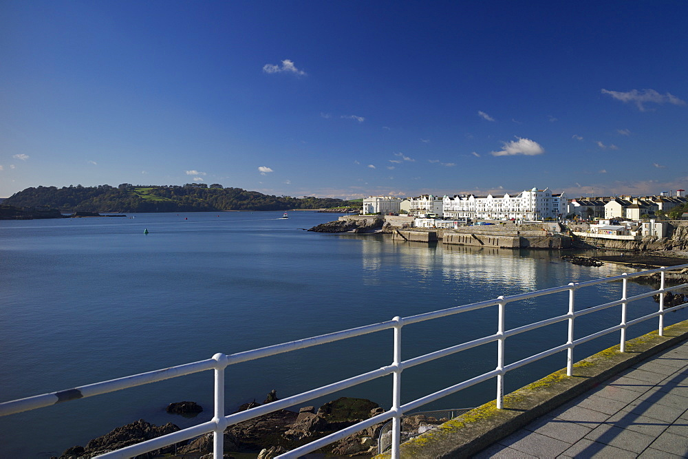 West Hoe and The Sound, Plymouth, Devon, England, United Kingdom, Europe - 492-3559