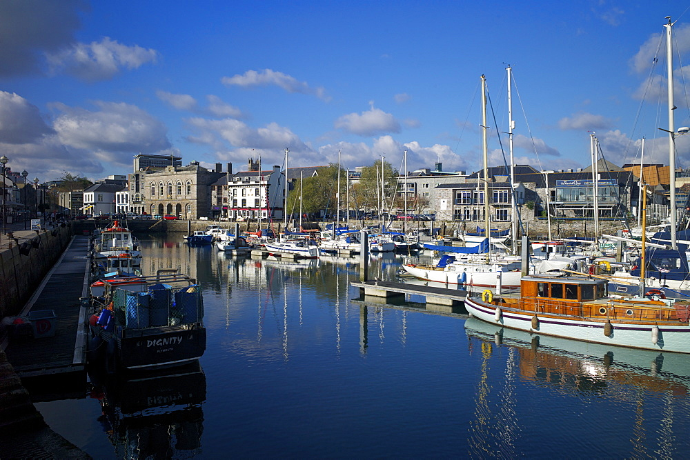 Sutton Harbour Marina, Plymouth, Devon, England, United Kingdom, Europe - 492-3561
