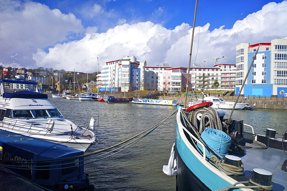 Bristol harbour, Bristol, England, United Kingdom, Europe - 492-3563