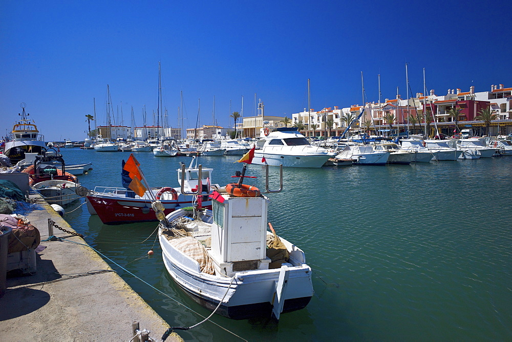 The marina at Cabo de Palos, Murcia, Spain, Mediterranean, Europe - 492-3575