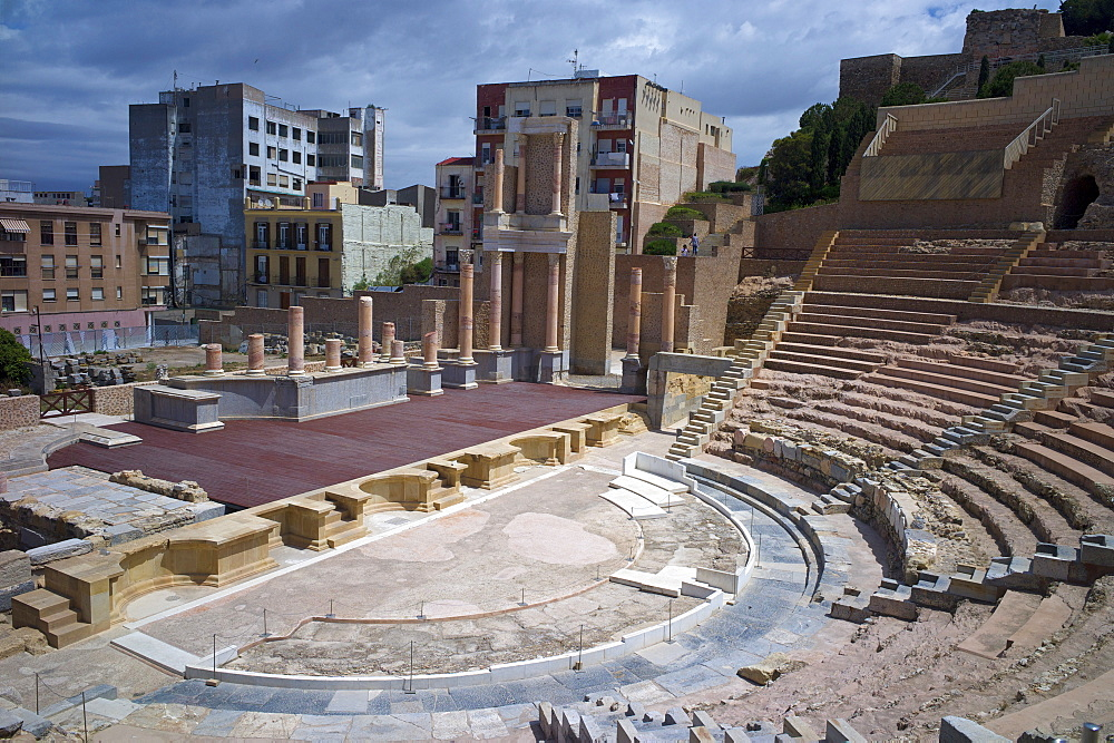 The Roman Theatre, Cartagena, Spain, Europe - 492-3576