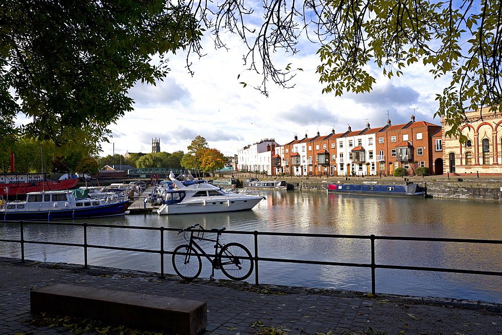 Bathurst Basin, the harbour, Bristol, England, United Kingdom, Europe - 492-3592