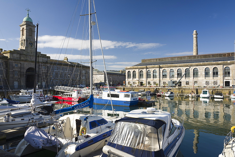 The marina, Royal William Yard, Plymouth, Devon, England, United Kingdom, Europe - 492-3598