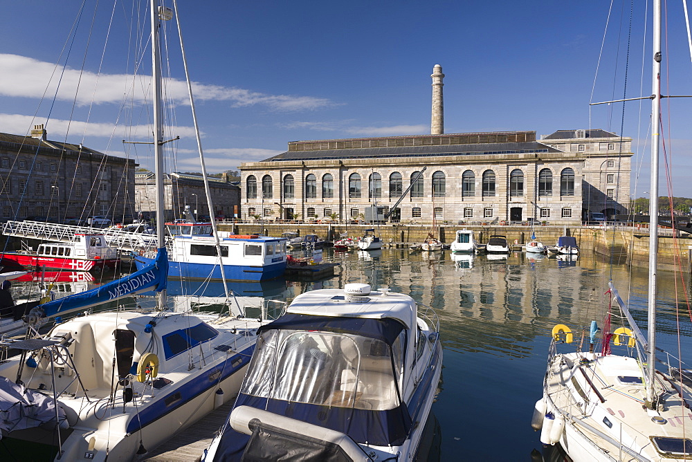 The marina, Royal William Yard, Plymouth, Devon, England, United Kingdom, Europe - 492-3599