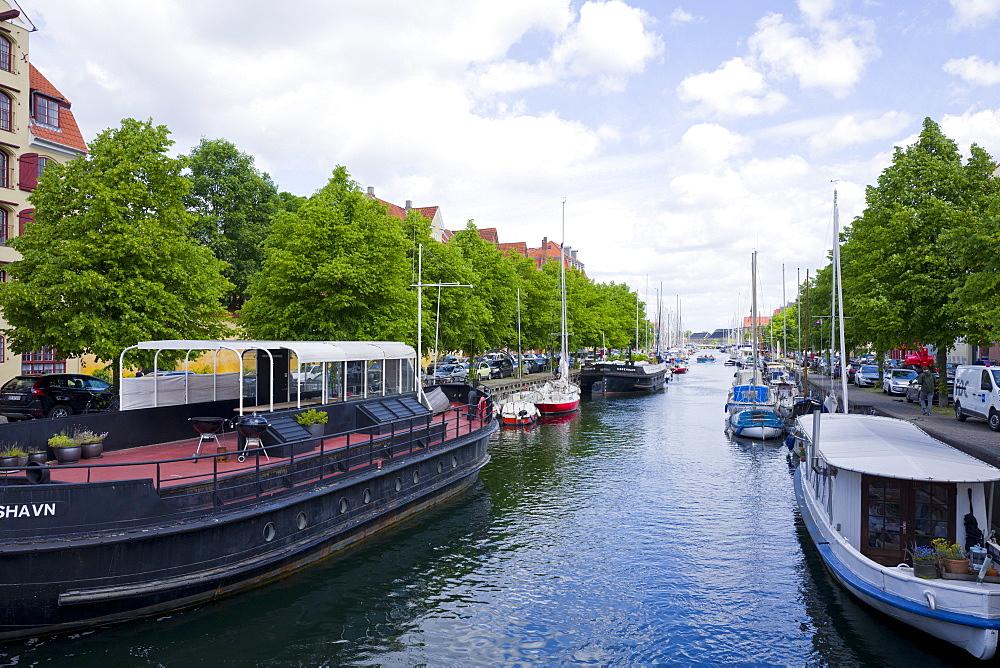 Christianshavn canal, Copenhagen, Denmark, Europe - 492-3602