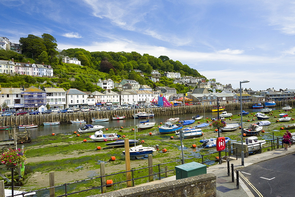 Looe harbour and bridge, Cornwall, England, United Kingdom, Europe - 492-3609