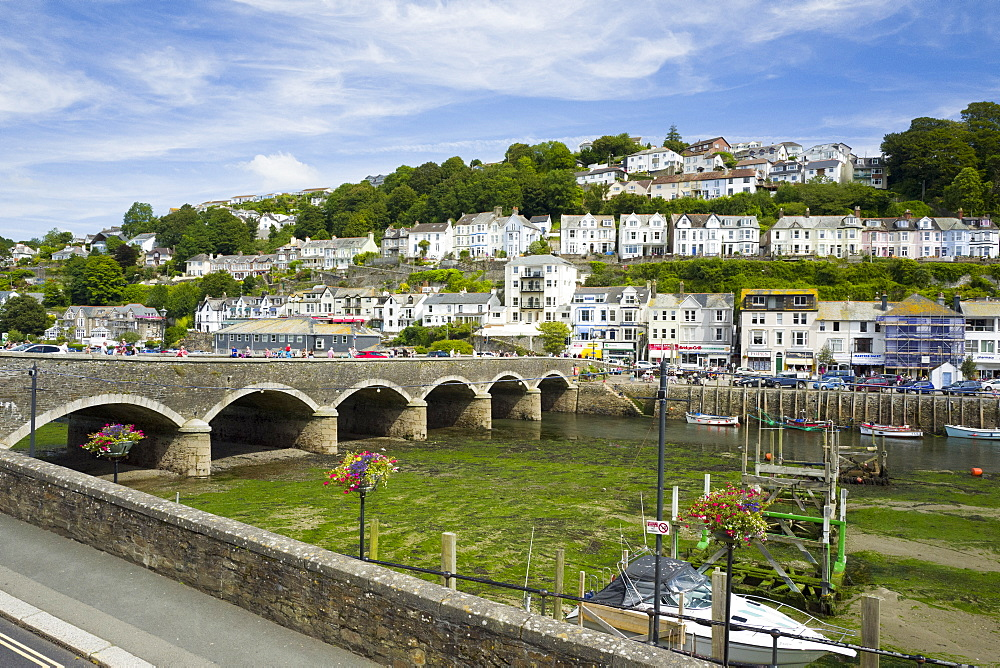 Looe harbour and bridge, Cornwall, England, United Kingdom, Europe - 492-3611