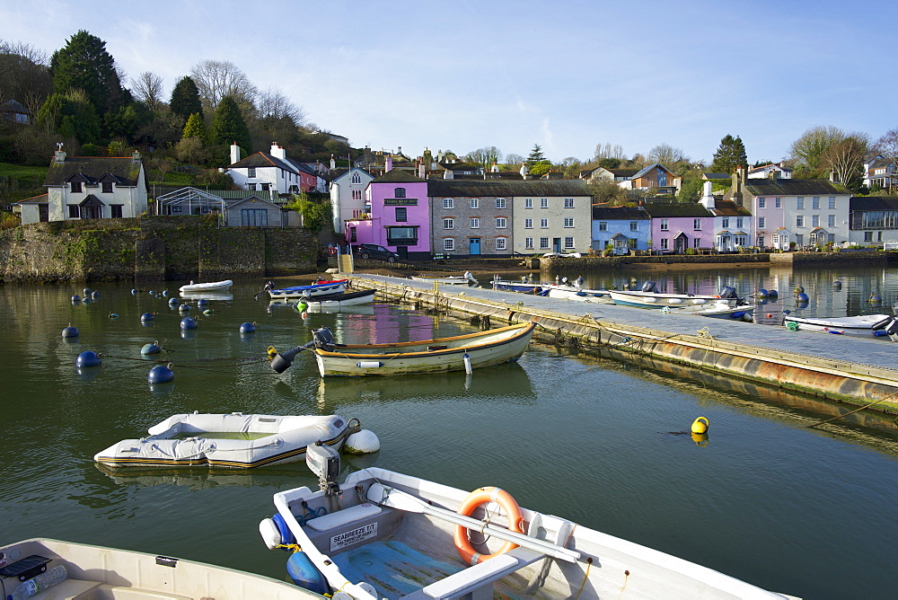 Harbour at Dittisham on the River Dart, South Devon, England, United Kingdom, Europe