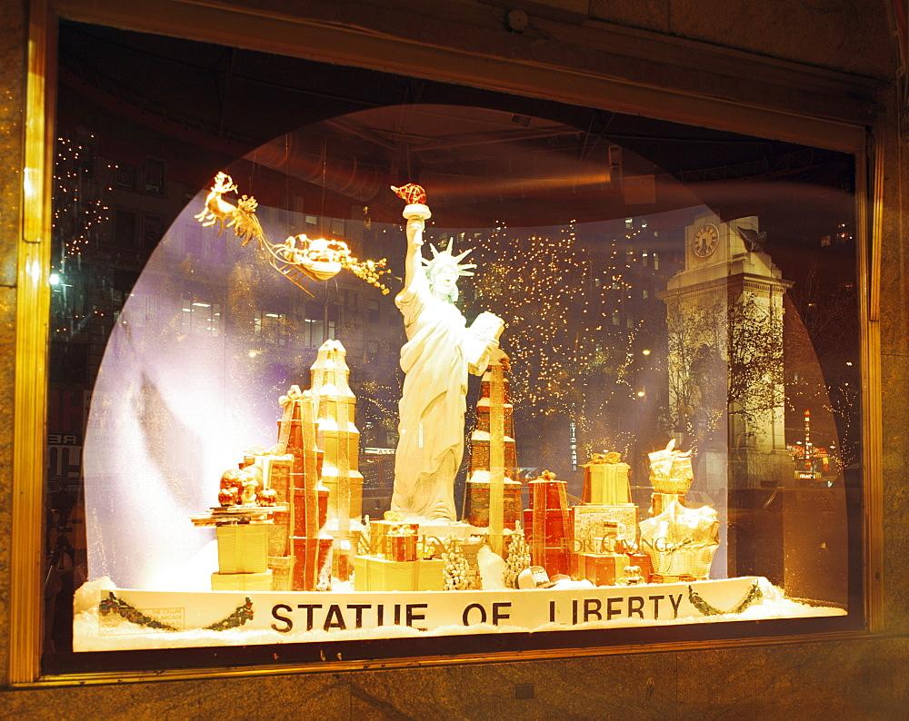 Christmas window display, Macy's, New York City, New York, United States of America, North America - 505-1242