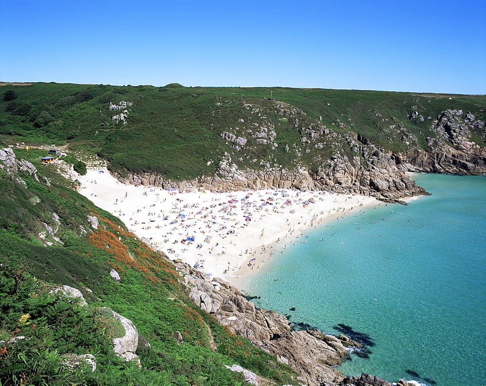 Porthcurno Bay, Cornwall, England, United Kingdom, Europe