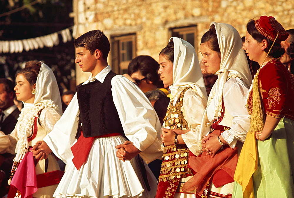 Arachora dancers near Delphi, Greece, Europe