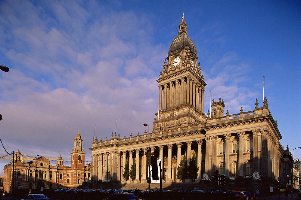 Town Hall, a grand Victorian building on The Headrow, Leeds, Yorkshire, England, United Kingdom, Europe - 508-22037