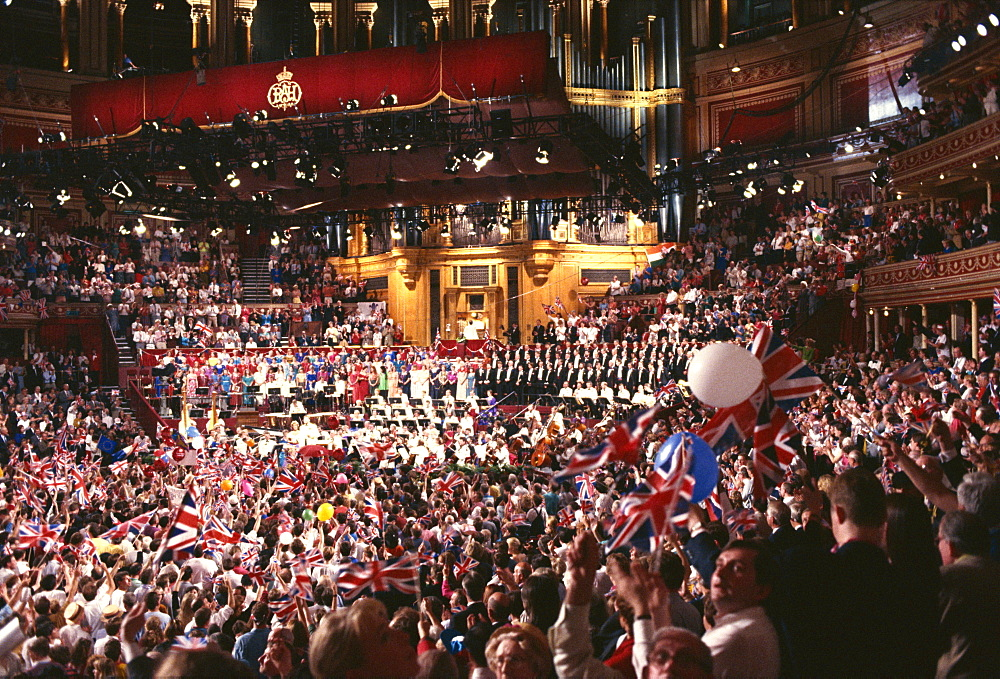 Audience at the Last Night of the Proms in 1992, Royal Albert Hall, Kensington, London, England, United Kingdom, Europe - 508-29587