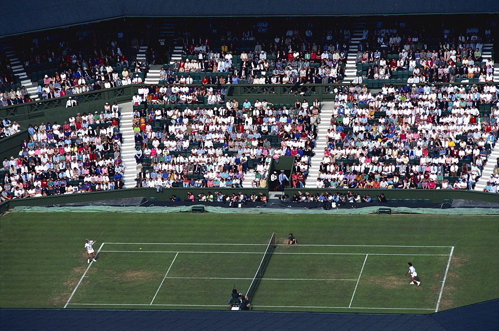 Aerial view of Centre Court, Wimbledon, England, United Kingdom, Europe