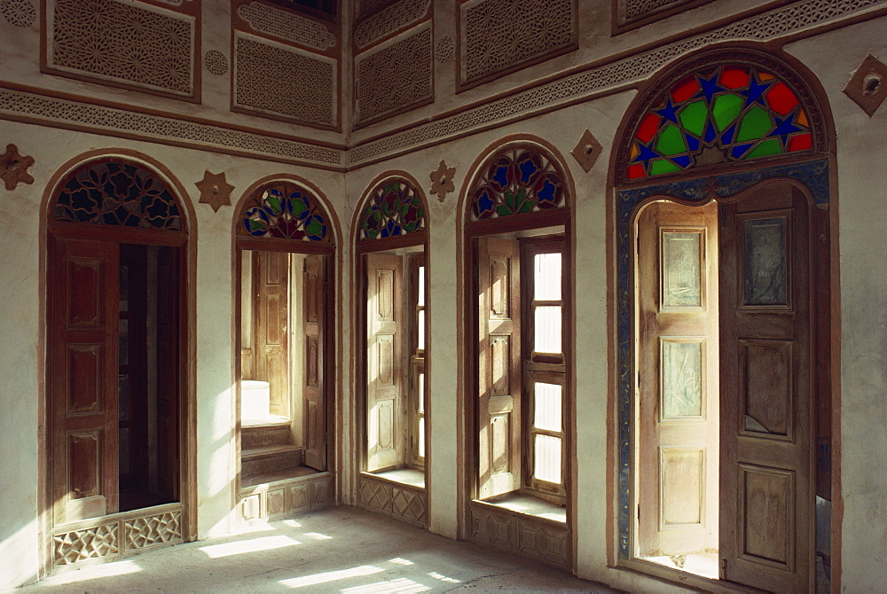 Interior of the restored house of Shaikh Isa, in the small village of Al Jasra, Manama, Bahrain, Middle East