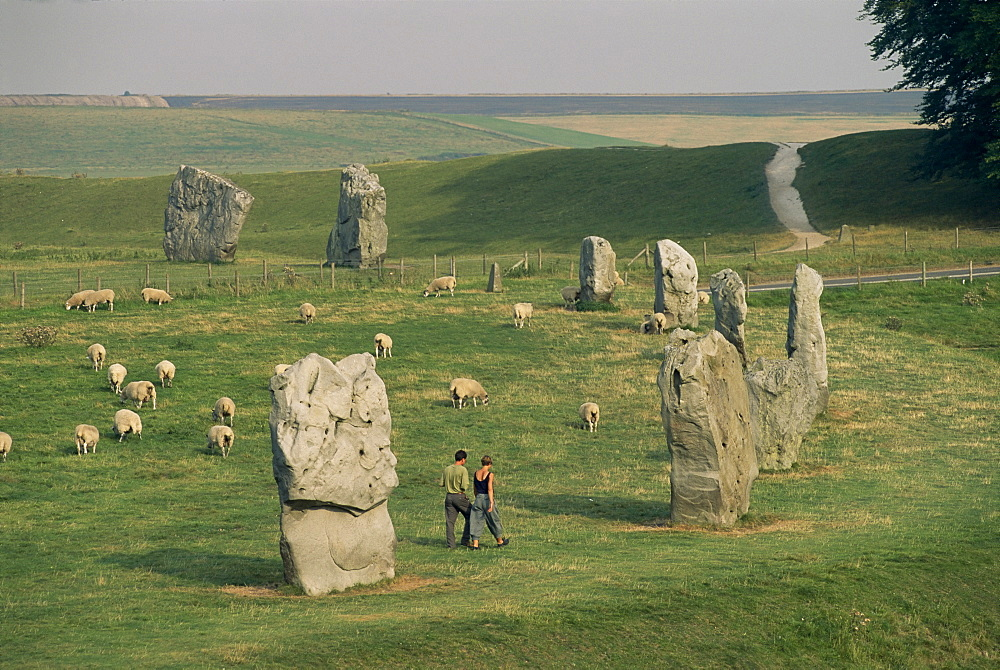 Avebury stone circle, Avebury, UNESCO World Heritage Site, Wiltshire, England, United Kingdom, Europe