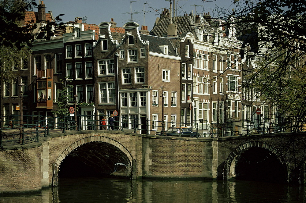 Junction of Reguliersgracht and Keizersgracht canals, Amsterdam, Holland, Europe