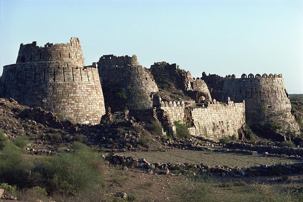 Ramparts, Tughlaqabad, Haryana state, India, Asia - 508-8022