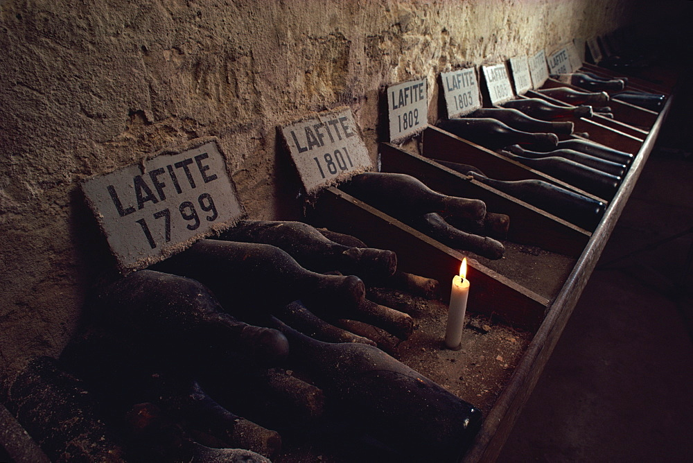 Cellars of Chateau Lafite Rothschild, Bordeaux, Aquitaine, France, Europe - 508-8626