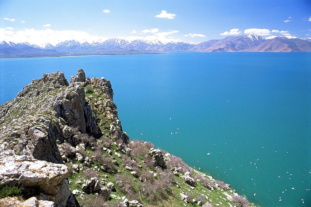 View from Akdamar Island of Lake Van, Anatolia, Turkey, Asia Minor, Eurasia