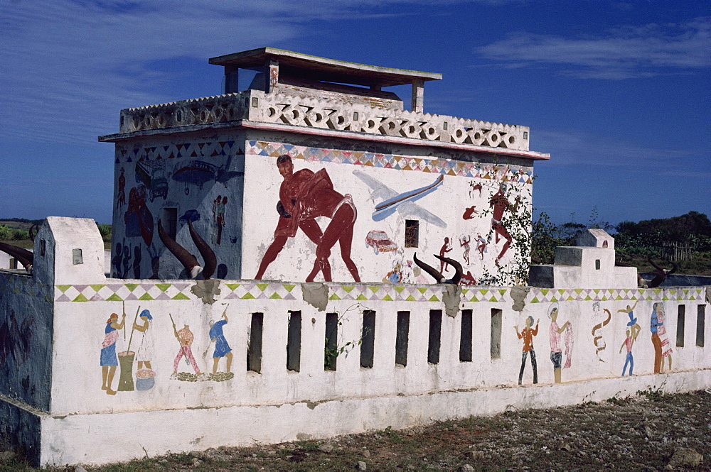Modern tomb of the Antandroy trible in south, Madagascar, Africa