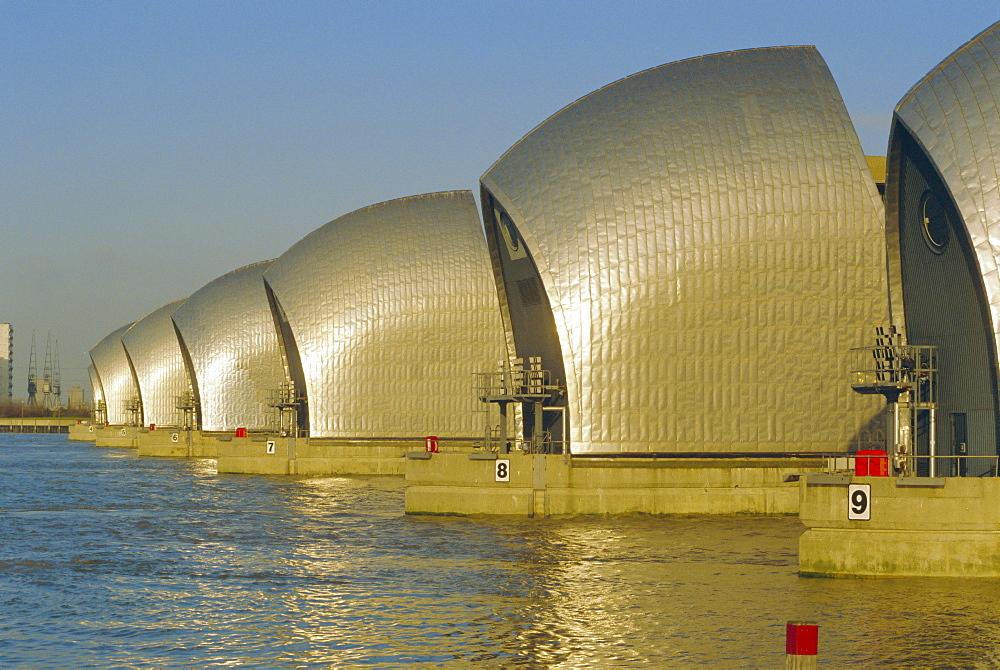 The Thames Flood Barrier, London, England, UK