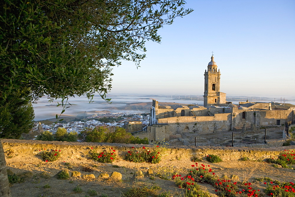 Misty view, Medina Sidonia, Andalucia, Spain, Europe