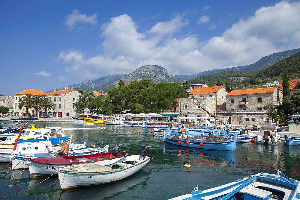 Harbour with fishing boats, Bol, Brac Island, Dalmatian Coast, Croatia, Europe - 526-3762