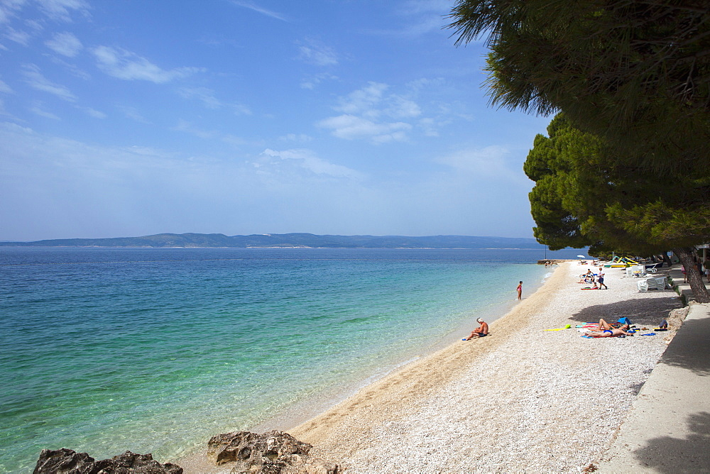 Beach, Brela, Dalmatian Coast, Croatia, Europe - 526-3764