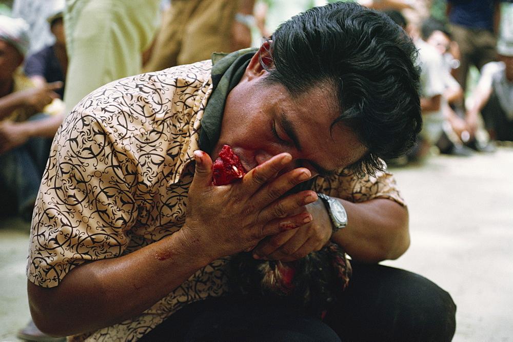 Bajau people cockfighting, Kota Belud, Sabah, Malaysia, Southeast Asia, Asia - 54-2035