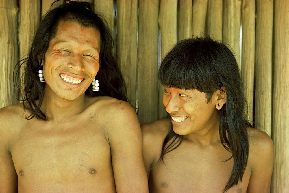 Xingu men, Brazil, South America - 54-4501