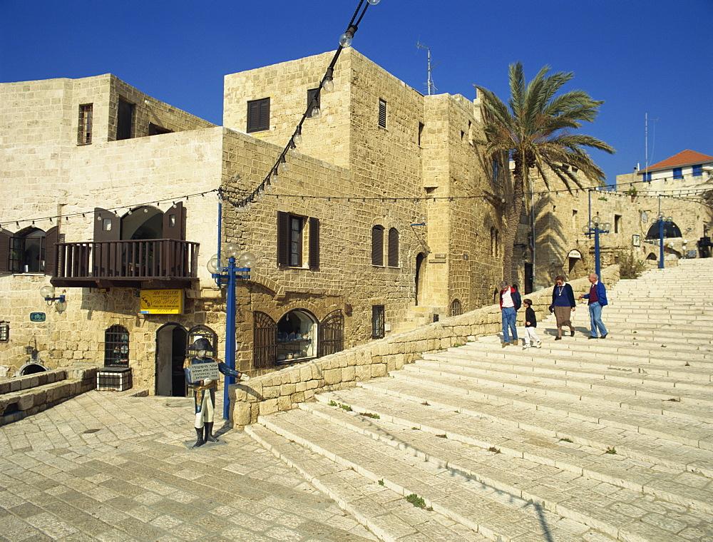 Street scene, Old Jaffa, Jaffa, Israel, Middle East