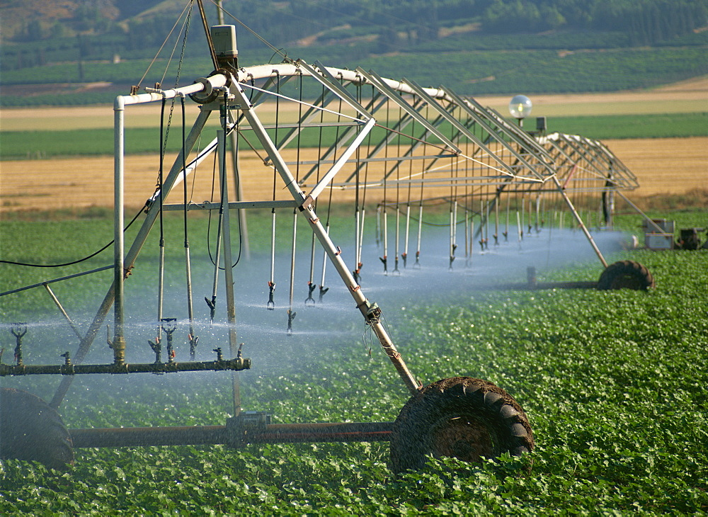 Automated irrigation system, Galilee, Israel, Middle East