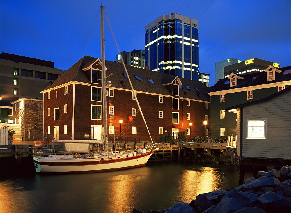Old port at dusk, Halifax, Nova Scotia, Canada, North America