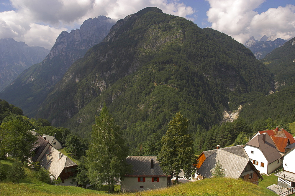 Village of Strmec, Soca Valley, Triglav National Park, Julian Alps, Slovenia, Europe