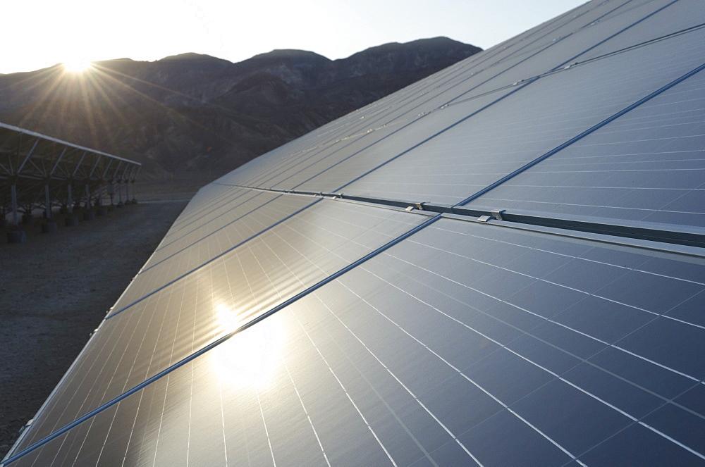 Arava Power solar panel field, Kibbutz Ketura, Southern Arava Valley, Israel, Middle East