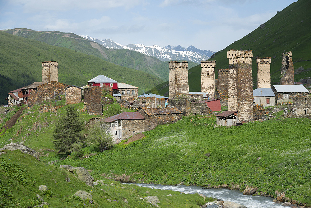 Ushguli village, Svaneti regio, Georgia, Central Asia, Asia