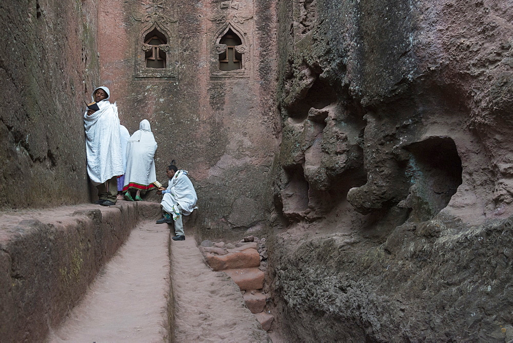Bet Golgotha and Bet Mikael churches, Lalibela Rock Hewn Churches, UNESCO World Heritage Site, Northern Ethiopia, Africa