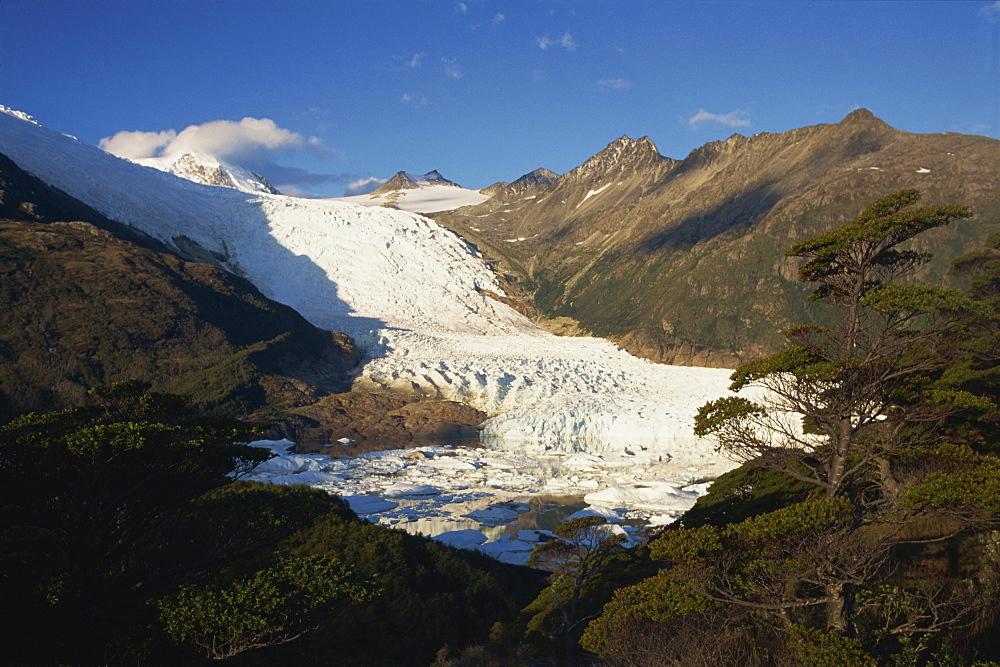 Glacier in the Magellan Straits, Tierra del Fuego, Chile, South America - 563-178