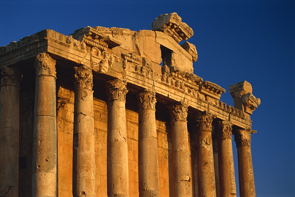 Roman temple of Bacchus, Baalbek, UNESCO World Heritage Site, Lebanon, Middle East